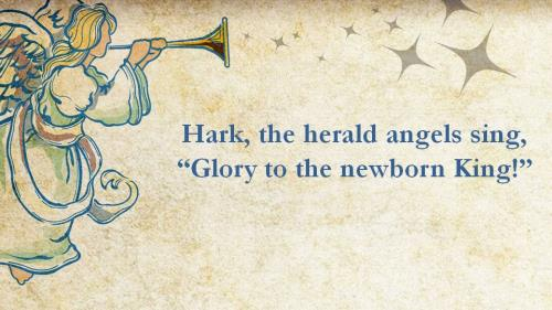 Hark the Herald Angels Sing with Lyrics PowerPoint Template 1