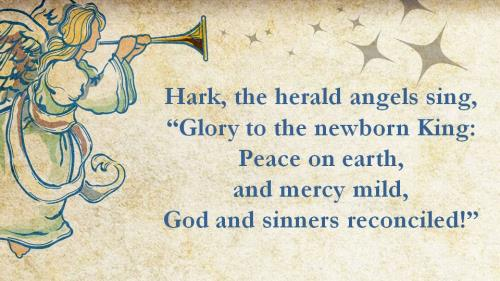 Hark the Herald Angels Sing with Lyrics PowerPoint Template 3