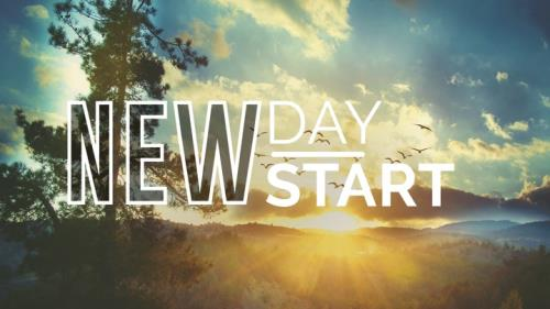 New Day New Start PowerPoint Template 1