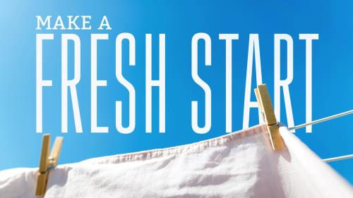 Fresh Start Clothes Line PowerPoint Template 1