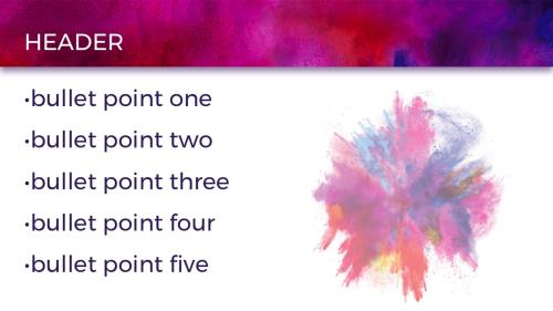 Color Burst PowerPoint Template 6