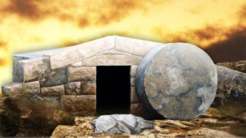 He  Is  Risen Tomb Preaching Slide