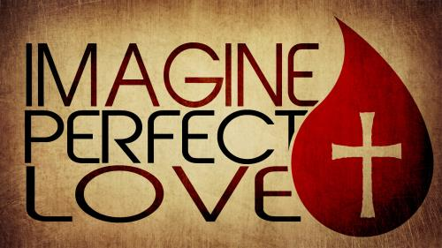 Imagine  Perfect  Love PowerPoint Template 1
