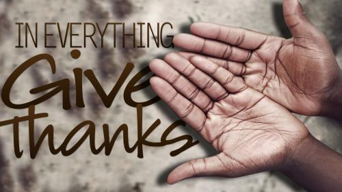 In  Everything  Give  Thanks PowerPoint Template 1